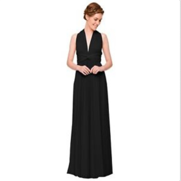 be6e8353bab43 Two Birds Convertible Long Gown Black Fits 0-12